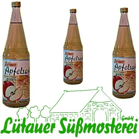Lütauer Apfelsaft klar (6/0,7 Ltr. Glas MEHRWEG)
