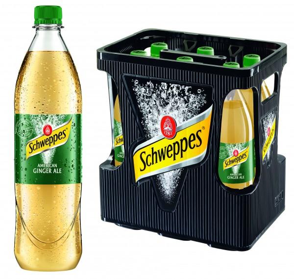 Schweppes American Ginger Ale (6/1 Ltr. PET MEHRWEG)
