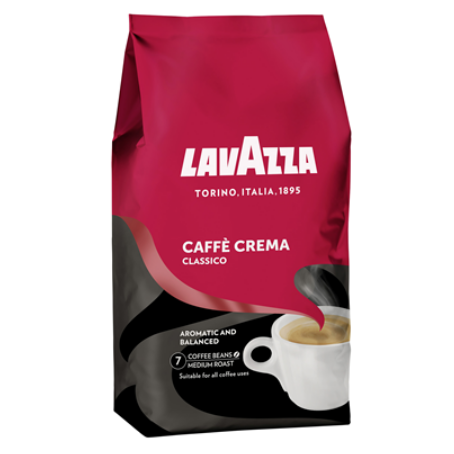 Lavazza Caffe Crema Classico ganze Bohnen (1 kg Beutel)