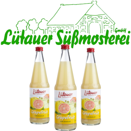 Lütauer Grapefruit-Saft (6/0,7 Ltr. Glas MEHRWEG)