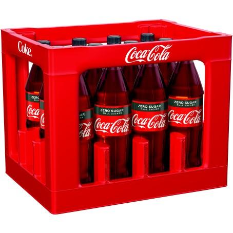 Coca Cola Zero (12/1,0 Ltr. PET MEHRWEG)