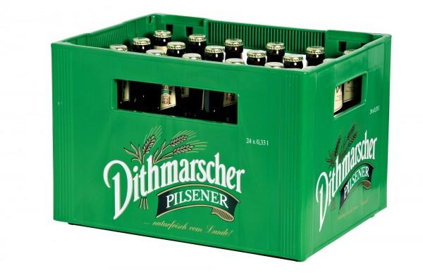 Dithmarscher Longneck Pils (24/0,33 Ltr. Glas MEHRWEG)
