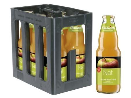 Klindworth Apfel trüb Direktsaft (6/1 Ltr. Glas MEHRWEG)