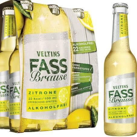 Veltins Fassbrause Zitrone (24/0,33 Ltr. Glas MEHRWEG)