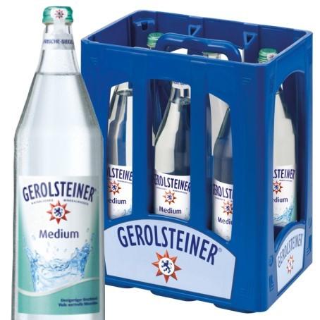 Gerolsteiner Medium (6/1 Ltr. Glas MEHRWEG)