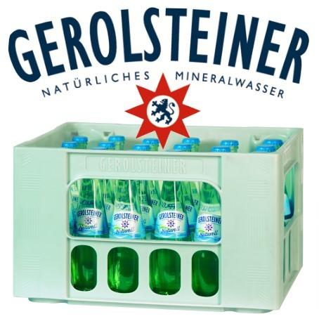 Gerolsteiner naturell Gourmet (24/0,25 Ltr. Glas MEHRWEG)
