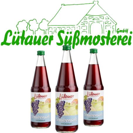 Lütauer Traubensaft rot (6/0,7 Ltr. Glas MEHRWEG)