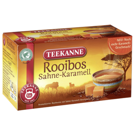 Teekanne Roibos-Sahne Karamell