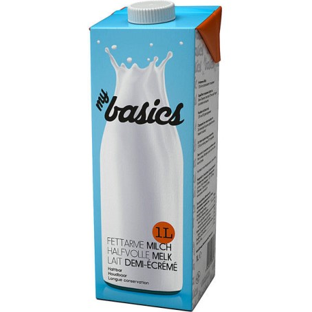 myBasics H-Milch 1.5% Fett (12/1 Ltr.)