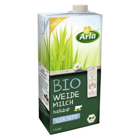 Arla Bio H-Weidenmilch 1,5 % Fett (12 x 1,00 Liter)