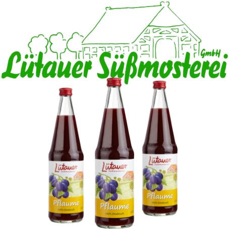 Lütauer Pflaumensaft (6/0,7 Ltr. Glas MEHRWEG)