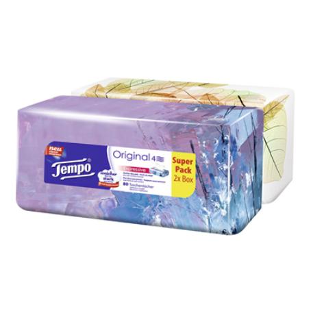 Tempo Duo-Box 4 lagig Weiß (2 x 80 Stück)
