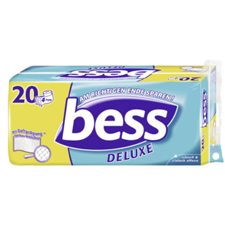 Bess Deluxe Toilettenpapier 4-lagig (20 x 152 Blatt)