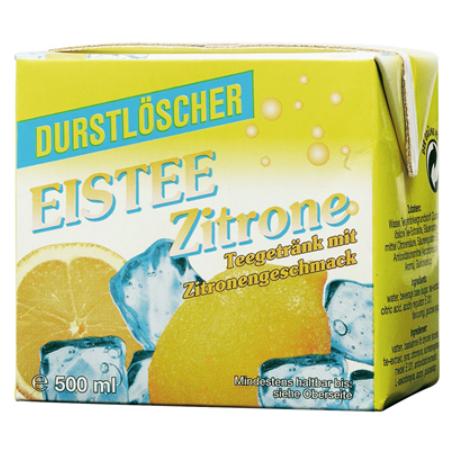 Durstlöscher Eistee Zitrone (12/0,5 l Packungen Einweg)