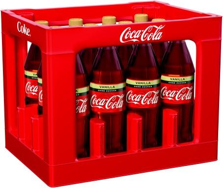 Coca Cola Zero Vanilla (12/1,0 Ltr. PET MEHRWEG)